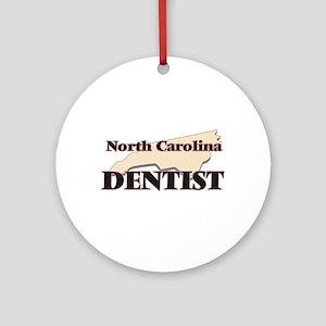 North Carolina Dentist Round Ornament