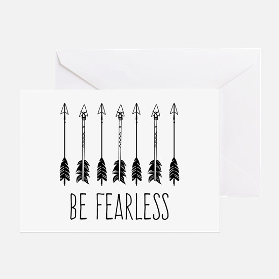 Arrows Be Fearless Greeting Cards