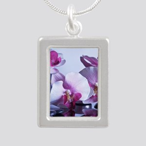 Welness and Inner Balanc Silver Portrait Necklace