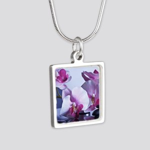 Welness and Inner Balance Silver Square Necklace
