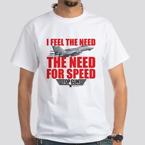 Top Gun - Need for Speed White T-Shirt