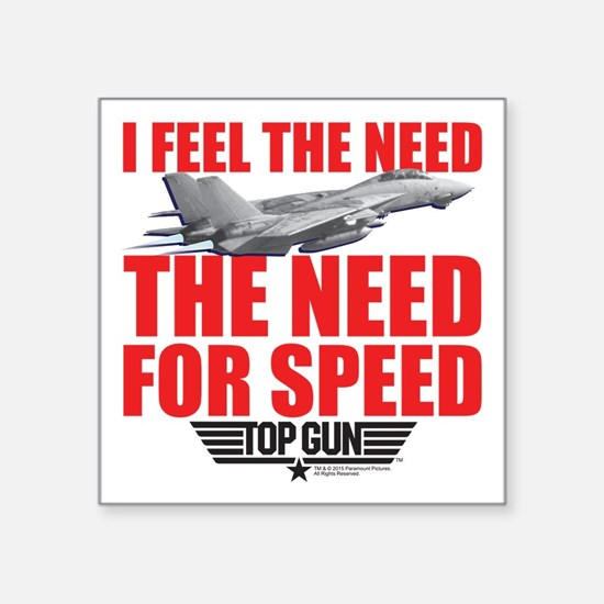 "Top Gun - Need for Speed Square Sticker 3"" x 3"""