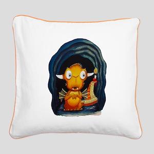 Leolus the Lone Dragon NO Tex Square Canvas Pillow