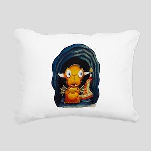 Leolus the Lone Dragon N Rectangular Canvas Pillow