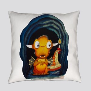 Leolus the Lone Dragon NO Text Everyday Pillow