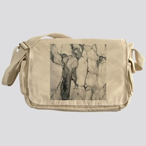 abstract chic white marble Messenger Bag