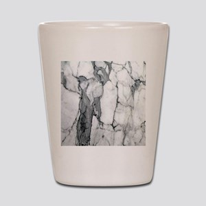 abstract chic white marble Shot Glass
