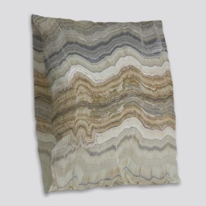 abstract chic white marble Burlap Throw Pillow