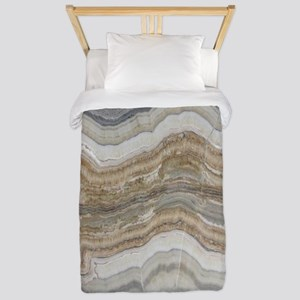 abstract chic white marble Twin Duvet
