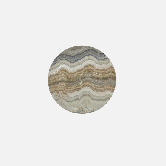 abstract chic white marble Mini Button