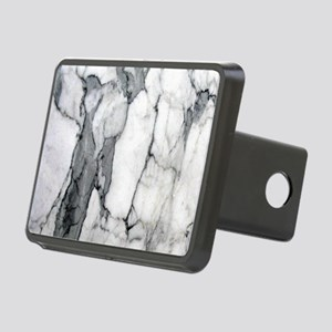 abstract chic white marble Rectangular Hitch Cover