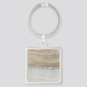 abstract chic white marble Square Keychain