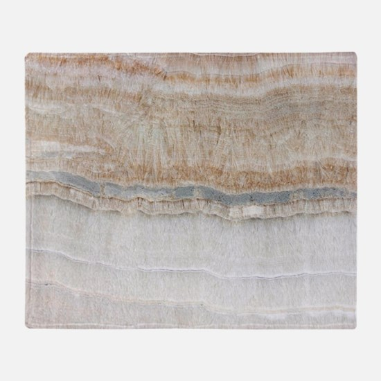 abstract chic white marble Throw Blanket