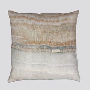 abstract chic white marble Everyday Pillow