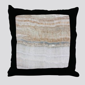 abstract chic white marble Throw Pillow