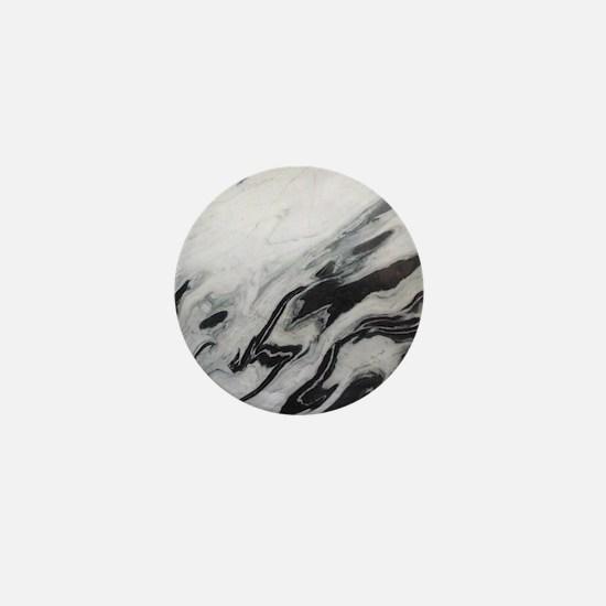 modern black white marble Mini Button