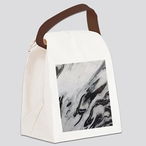 modern black white marble Canvas Lunch Bag
