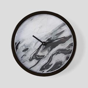 modern black white marble Wall Clock