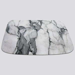 abstract chic white marble Bathmat