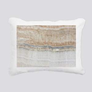 abstract chic white marb Rectangular Canvas Pillow