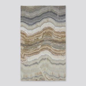 abstract chic white marble Area Rug