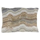 Abstract chic white marble Pillow Cases