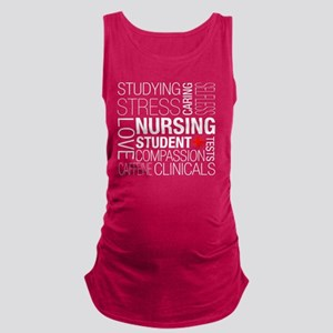 Nursing Student Text Maternity Tank Top