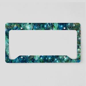 Blue Christmas License Plate Holder
