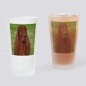 Irish Setter Head Study 3 Drinking Glass