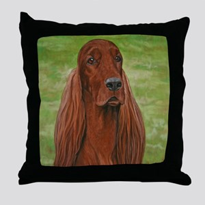 Irish Setter Head Study 3 Throw Pillow