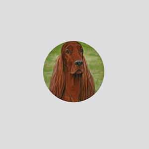 Irish Setter Head Study 3 Mini Button