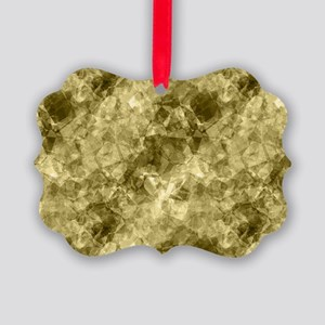 Crumpled Bronze Abstract Pattern Picture Ornament