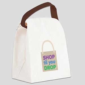 Shop Til Drop Canvas Lunch Bag