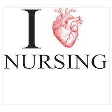 I Heart Nursing Poster