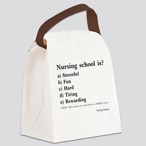 Nursing Student Test Questions Canvas Lunch Bag
