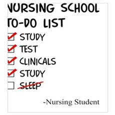 Nursing Student To-Do List Poster
