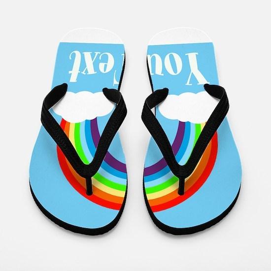 Personalizable Rainbow Flip Flops