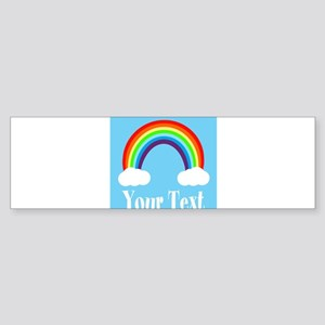 Personalizable Rainbow Bumper Sticker