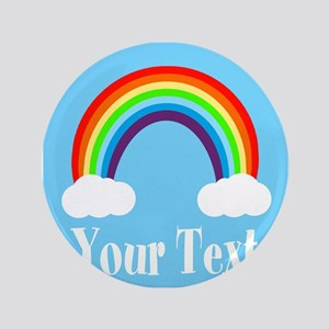 Personalizable Rainbow Button