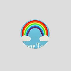 Personalizable Rainbow Mini Button