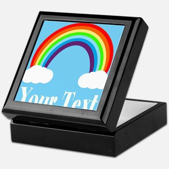 Personalizable Rainbow Keepsake Box