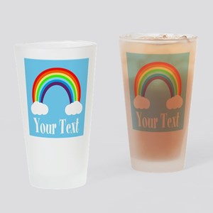 Personalizable Rainbow Drinking Glass