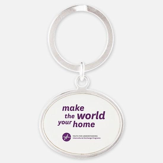 10x10 Oval Keychain
