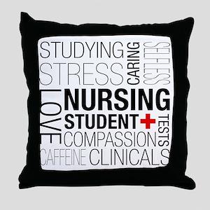 Nursing Student Box Throw Pillow