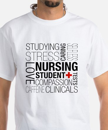 Nursing Student Box White T-Shirt