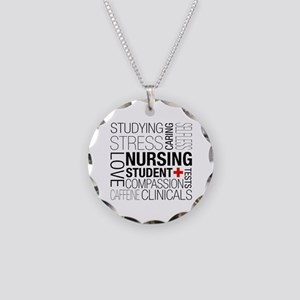 Nursing Student Box Necklace Circle Charm