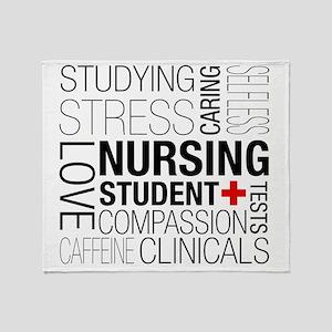 Nursing Student Box Throw Blanket