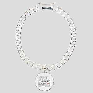 Nursing Student Box Charm Bracelet, One Charm