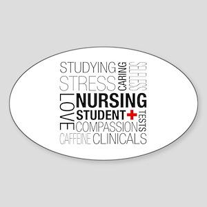 Nursing Student Box Sticker (Oval)