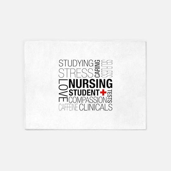 Nursing Student Box 5'x7'Area Rug